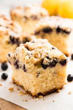 Lemon Blueberry Sour Cream Coffee Cake
