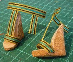Zapatos Moda Doll: suelas de corcho para Nefera