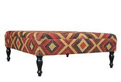 Holden Kilim Upholstered Ottoman on OneKingsLane.com