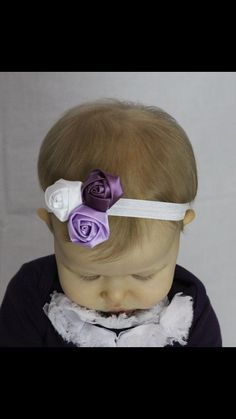White light purple and dark purple rosettes on a by My2SweetPeaz, $7.50