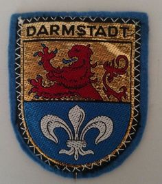 Darmstadt Germany Coat of Arms Patch Sew On Travel Souvenir Vintage Collectible  #Unbranded
