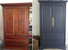 Armoire before and after through paint #BedroomIdeas