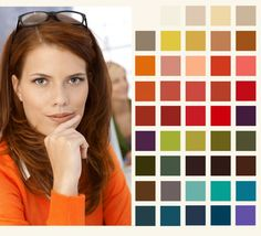 Autumn Colour Palette (I've got chestnut hair instead of red, but the clothing colors are still right!)