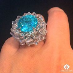 """1,631 Likes, 38 Comments - Karen Suen Fine Jewellery (@karensuenfinejewellery) on Instagram: """"Inspire by lotus flower, here is a captivating Paraiba Tourmaline with incredible electric blue…"""""""