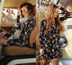 Cveti Dimitrova - Vintage Summer Fashion Floral Dress - Come as you are, as you were, as I want you to be.