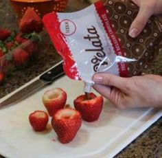 Velata Filled Strawberries. Just melt & pour!!