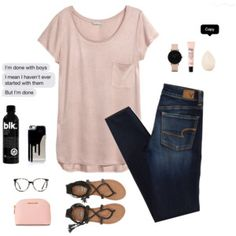 #modest #polyvore #modestfashion #holiness-is-thenewhot #humblyhis #beauty #blk #pink #blusg #jeans