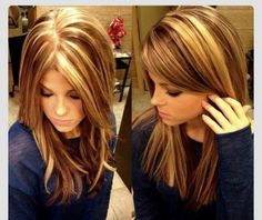 Brunette with blonde highlights. I like the naturally woven part; not so much the chunky part