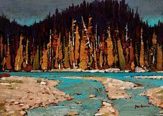 """Fall in the Rockies,"" by Min Ma 5 x 7 - acrylic $520 Unframed"