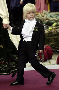 Mette-Marit's eldest son Marius at the wedding of his mother with Crown Prince Haakon