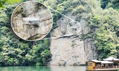 See-through  hotel suspended 98 feet from a cliff unveiled in China, Baofeng Lake Zhangjiajie