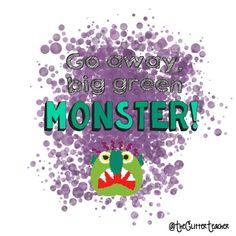 Recursos para trabajar el cuento de Ed Emberley: Go away big green monster! #video #storytelling #partsoftheface