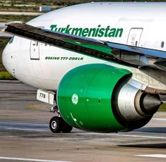 Turkmenistan Airlines Boeing 777, Aircraft, Vehicles, Aviation, Plane, Airplanes, Car, Airplane, Vehicle