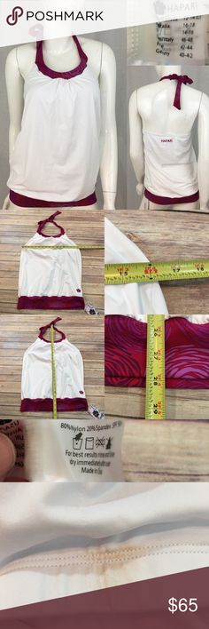 💋NWT Hapari Large (12-14) Blouson Style Tankini Measurements are in photos. NWT, has a markup mark on the inside from being tried on, no other flaws. F3/54  I do not comment to my buyers after purchases, due to their privacy. If you would like any reassurance after your purchase that I did receive your order, please feel free to comment on the listing and I will promptly respond.   I ship everyday and I always package safely. Thank you for shopping my closet! Hapari Swim