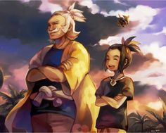 Hau trying to be like his grandfather.