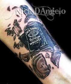 jack daniels | Jack Daniels Tattoo by ~NickDAngeloTattoos on deviantART