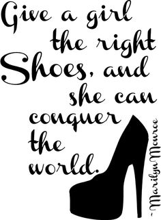 Give a girl a Shoe Marilyn Monroe Quote Wall art by astickyplace, $24.99
