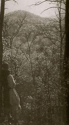 Thomas Merton in the woods around Gethsemani