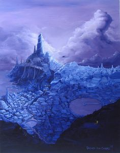 Fantasy Scape Oils by Darren Geers  Traditional Art / Paintings / Landscapes & Scenery©2007-2015 Darren Geers Fantasy Landscape done with Analogous colours and a complementary color. Deviant Art