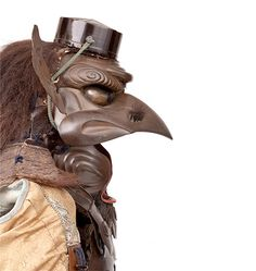 Japan: 'Armor of the Tengu Type' (tengu tōsei gusoku) made by Kiyotoshi and Munekiyo (forged helmet) and Ryūsuiken (helmet), in This was made for a samurai or for a samurai family and depicts the tengu, a ferocious half-man, half bird of legend. Kabuto Samurai, Samurai Weapons, Samurai Helmet, Samurai Armor, Arm Armor, Japanese Mask, Japanese Warrior, Japanese Mythology, Japanese Folklore
