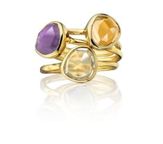 I want to start a collection...in love!  GP Siren Stacking Ring  -  Citrine - Monica Vinader