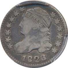 Harry Laibstain Rare Coins has this item on Collectors Corner - 1823/2 10C Small E's VG10 PCGS