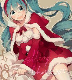Vocaloid Christmas Anime girl