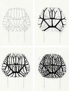 Coupe d'une chaise  Montrer un visuel plat afin de visualisé l'aspect esthétique de l'objet et la forme  Crayon et feutre noir