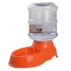 Letdown Pet Dog Water Device 3.5 L Pet Dog Cat Automatic Water Dispenser Device Bottle Dish Orange *** You can get more details by clicking on the image. (This is an affiliate link) #automaticdogfeeder