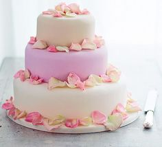 Step by step on making 3 tiers wedding cake including recipe for 3 flavours cakes from bbc goodfood