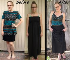 Tribal Maxi Dress Refashion by CarissaKnits