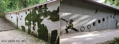 Tricot da Tita: MOSS GRAFFITI | Grafite Verde
