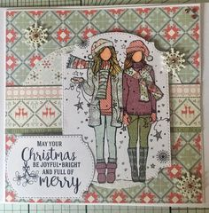 Unity Stamps - Shine Bright Girls #unitystampco #handmade #crafts #card #christmas #angiegirl Prima Paper Dolls, Birthday Congratulations, Unity Stamps, Christmas Scrapbook, Mothers Day Crafts, Pretty Cards, Paper Crafts, Paper Art, Christmas Crafts