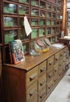 Multi-drawer general store cabinet ~ I would die ~