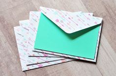 Arrow Mini Cards - Pastel // Set of 4 // Gift Card Envelopes // Blank Cards // Enclosure Cards // Love Note // Valentine's Day Card by whoiamdesign on Etsy