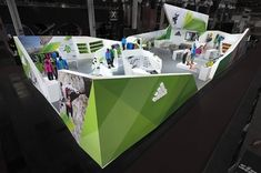 Adidas Outdoor trade show booth on the Behance Network