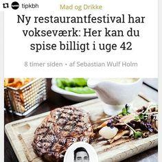 På @tipkbh kan du læse lidt om vores restaurantfestival #dinnerdays - billetsalget starter fredag kl 10 #restaurantfestival #københavn #foodie #3retterfor195 #instagram