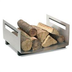 Stylish Firewood rack! #fireplace #homedecor #firewoodrack