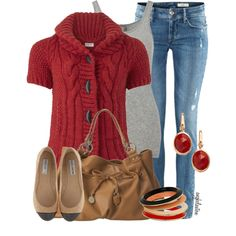 by angkclaxton on Polyvore {note: Gomax's quilted flats are cheaper and much cuter in person}