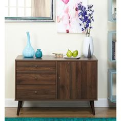 Simple Living Carroll Mid-Century Buffet  | Overstock.com Shopping - The Best Deals on Buffets