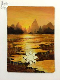 Plains - Full Art Land - MTG Alter - Revelen's Light Altered Art Magic Card #WizardsoftheCoast