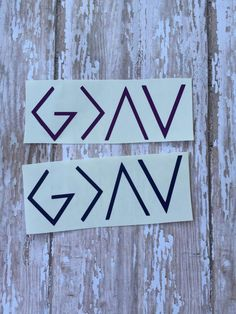 God is greater than the highs and lows decals