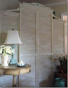 Headboard idea from shutters