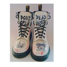 shoes white black and white zombie the walking dead blood goth scary dead drmart. - - shoes white black and white zombie the walking dead blood goth scary dead drmart… - Dr. Martens, Doc Martens Stiefel, Red Doc Martens, Doc Martens Outfit, Doc Martens Boots, Emo Outfits, Grunge Outfits, White Zombie, Gothic Shoes