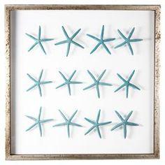 Sea Star Framed Wall Art in Teal