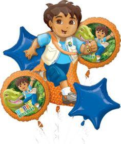 Go Diego Go Balloon Bouquet 5pc - Party City