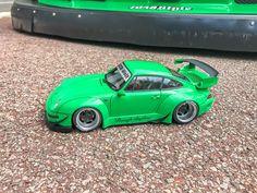 Liberty Walk, Racing Wheel, Porsche, Japan, Car, Green, Model, Automobile