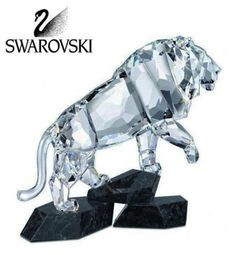 "Retail Price: $1090 +tax Swarovski Clear CRYSTAL Figurine Soulmates LION #5103232 Size: 7"" tall x 7"" wide In a brand new condition IN ITS original box with certificate"