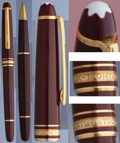 Montblanc meisterstruck Burgundy Rollerball pen #Montblanc, #meisterstruck, #rollerball pen, #pen, #montblanc pen,  #mont blanc,