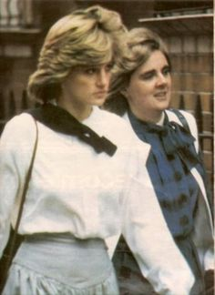 Diana with the first lady-in-waiting, Anne Beckwith-Smith, that was assigned to her.
